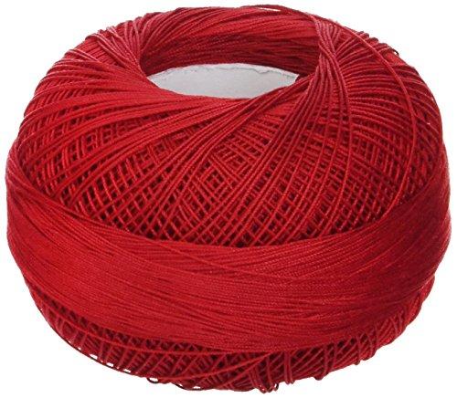 Handy Hands Lizbeth Premium Cotton Thread, Size 40, Christmas Red by Handy Hands