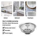 2 PCS Kitchen Sink Drain Strainer, 2-in-1 Basket