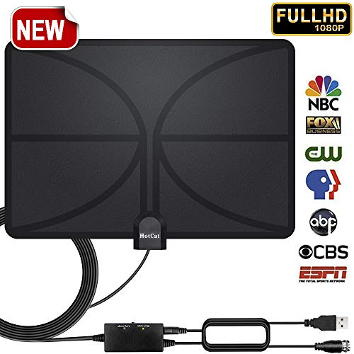 Buy Cheap HDTV Antenna 80 Miles Long Range Indoor Digital HDTV Antenna with 2019 Newest Amplifier Si...