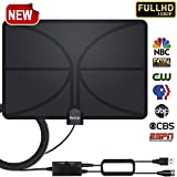 2019 New! HDTV Antenna, Indoor Amplified Digital TV Antenna 120 Miles Range Detachable Amplifier Signal Booster for 4K HD 1080P VHF UHF Freeview Local Channels 16.5ft Coax Cable Support All TV's