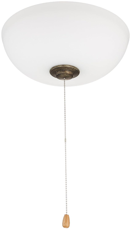 Emerson Ceiling Fans LK150OMVS Harlow Opal Matte Low Profile Ceiling Fan Light Fixture