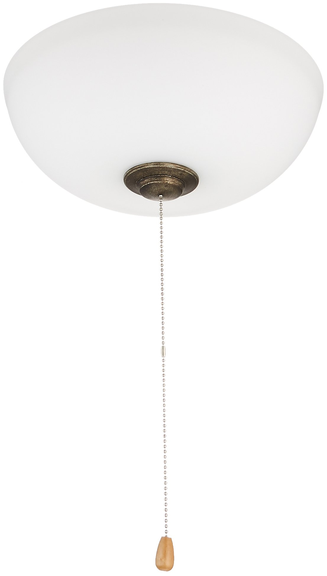Emerson Ceiling Fans LK150OMVS Harlow Opal Matte Low Profile Ceiling Fan Light Fixture