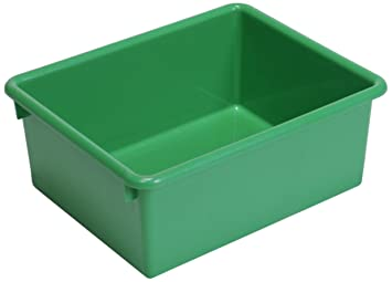 Steffy Wood Products Green Storage Tub, 5 Inch By 10 1/2