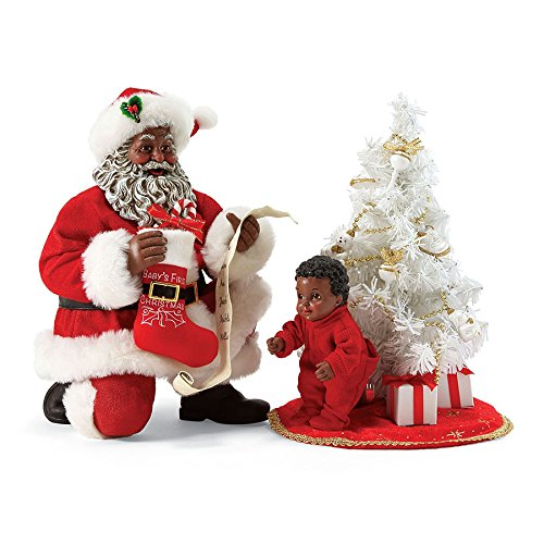 Department 56 Possible Dreams 4056716 Baby's First Tree African Ameican Santa