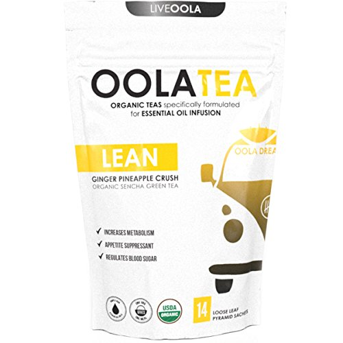 Cheap Oola Tea – LEAN (Ginger Pineapple Crush) 14 Count | Certified Organic Sencha Green Tea | Increases Metabolism | Appetite Suppressant
