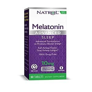 Natrol Advanced Sleep Melatonin Tablets, 10mg, 60 Count