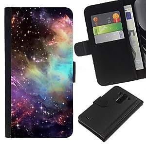 All Phone Most Case / Oferta Especial Cáscara Funda de cuero Monedero Cubierta de proteccion Caso / Wallet Case for LG G3 // Universe Cosmos Stars Awe Inspiring