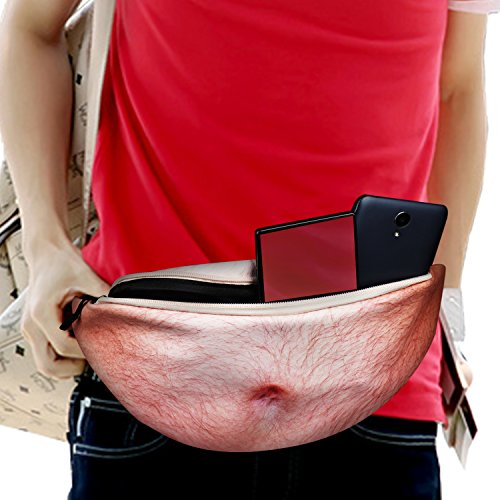 Dad Bag 3D Beer Belly Waist Pocket Funny Gag Gifts for Christmas, White Elephant Gift Exchange