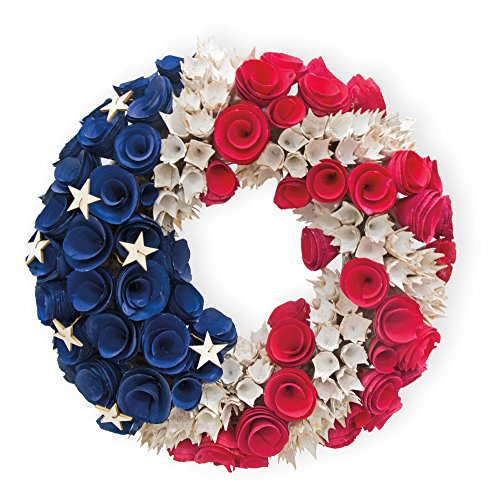 Celebrate the Home Stars and Stripes Decorative Americana Wreath