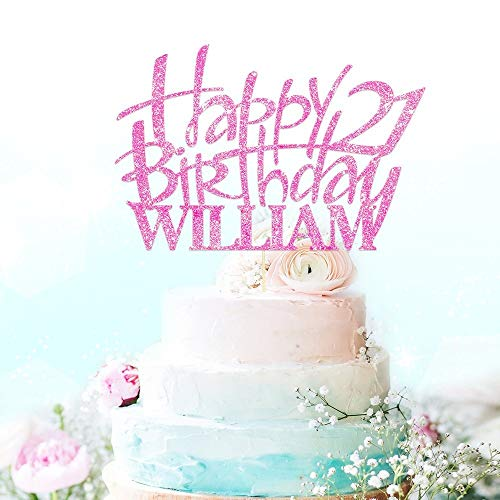 Happy Birthday Cake Topper Party Decoration. Personalised ...