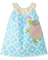 Mud Pie Baby Girls' Turtle Dress