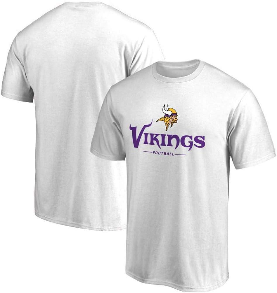 Camiseta de f/útbol de Uniforme de f/útbol de la NFL Vikings para Hombre NBJBK Camiseta Deportiva de Manga Corta para Hombre