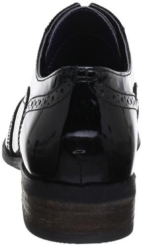 Oak Hamble cordones Patente Zapatos Negro para 20350649 Clarks de mujer n7vgRg6