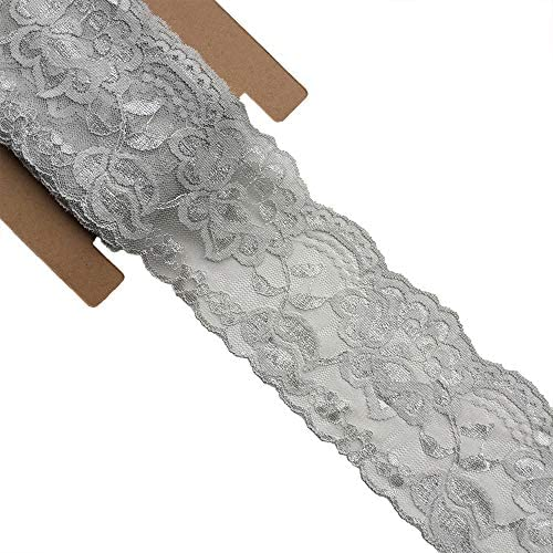 Purple 10Yards Lace Fabric 14CM//5.5 inches Wide Trim Lace Ribbon