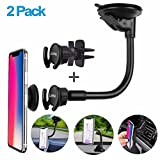 Pop Out Stand Car Mount [2-Pack] Car Air Vent Clip Holder Adjustable Arm Reusable Suction Dashboard Windshield Holder Car Mount Expanding Grip Xiaomi Samsung Galaxy Sony LG Oneplus Huawei