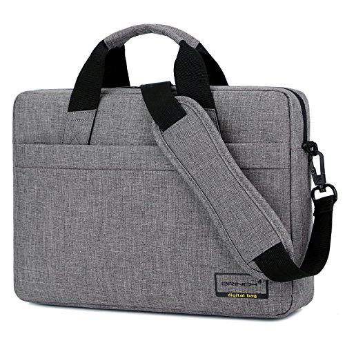 Laptop Bag,BRINCH 15.6 inch Stylish Lightweight Business Laptop Shoulder Messenger Bag Briefcase Sleeve Case for 15-15.6 inches Laptop/Notebook / MacBook/Ultrabook / Chromebook Computers,Grey by BRINCH