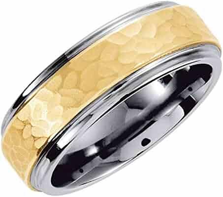 8.5 Size Jay Seiler Titanium Enameled Flat 8mm Satin /& Polished Band Titanium