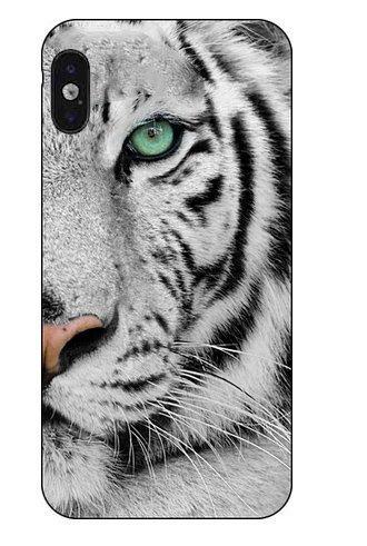 fe780cdb DECO FAIRY Compatible with iPhone X / Xs, Beautiful White Tiger Wild Jungle  Predator Carnivore Animal Series Transparent Translucent Flexible Silicone  ...