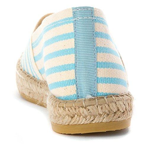 Vidorreta Femmes Lynn Mocassins Chaussures Bleu Bande