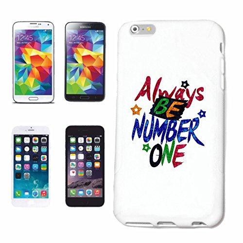 """cas de téléphone iPhone 7S """"TOUJOURS NUMÉRO UN FOREVER NUMÉRO UN ANNIVERSAIRE IDÉE CADEAU DE NOËL PÂQUES"""" Hard Case Cover Téléphone Covers Smart Cover pour Apple iPhone en blanc"""