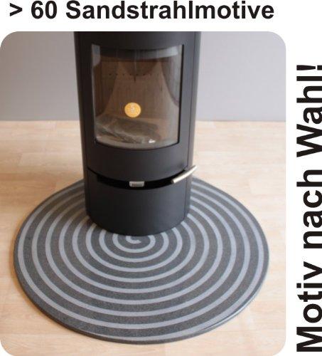 Placa base contra chispas para estufa de leña y pellet estufa gota graníticas F12S - 110 x 110 cm - Diseño a elección: Amazon.es: Hogar