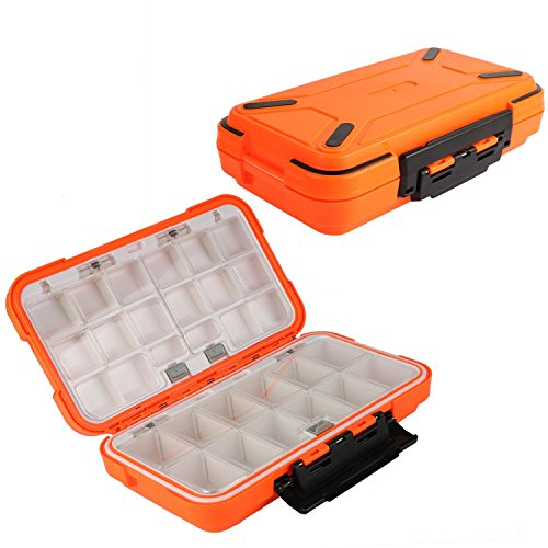 (Goture Fishing-Lure-Boxes-Bait Tackle-Plastic-Storage, Small-Lure-Case, Mini-Lure-Box for Vest, Fishing-Accessories Large Boxes Storage Containers (Large/Orange))