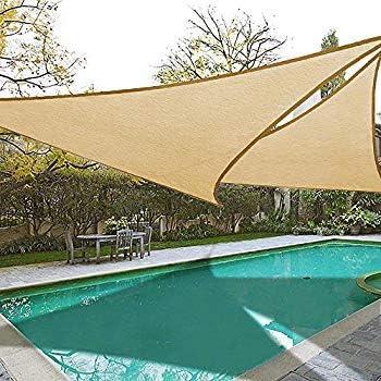 Diech - Toldo con Forma de triángulo para jardín, con Cuerdas y Anillas en D: Amazon.es: Jardín