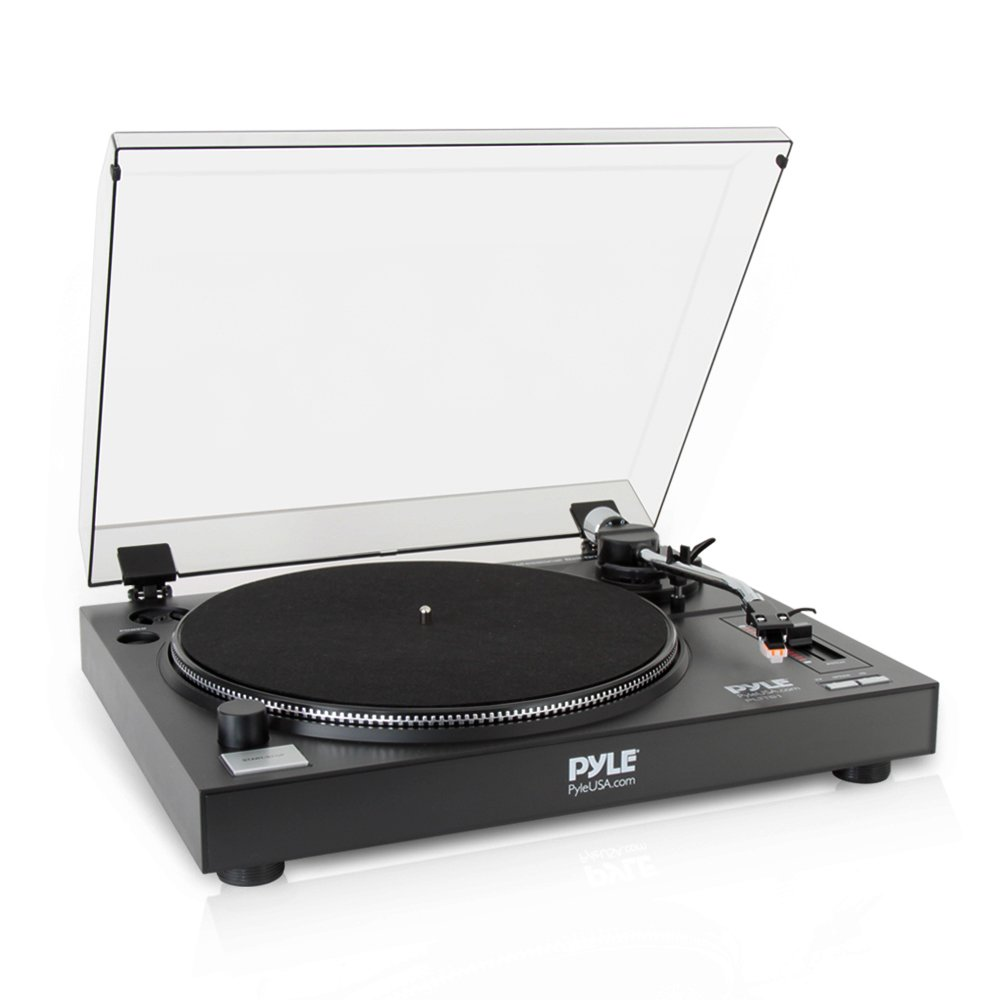 Pyle-Pro Professional Belt-Drive Manual Turntable PLTTB1 Sound Around