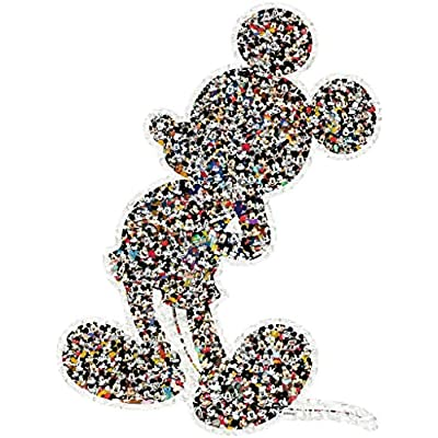 Ravensburger Disney Mickey Mouse Shaped 945 Piece Jigsaw Puzzle for Adults – Every Piece is Unique, Softclick Technology Means Pieces Fit Together Perfectly: Toys & Games