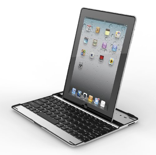 PortaCell® Ultrathin Keyboard Cover Black for iPad 2 and iPad (3rd/4th generation) + PortaCell Trademark Microfiber Cleaning Cloths!