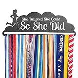 Gone For a Run   Runner's Race Medal Hanger   She Believed She Could