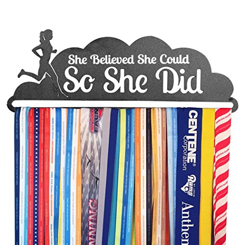 Gone For a Run | Runner's Race Medal Hanger | She Believed She Could ()