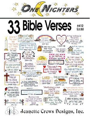 One Nighters: 33 Bible Verses (Jeanette Crews Designs, Inc., #412) Jeanette Crews Designs