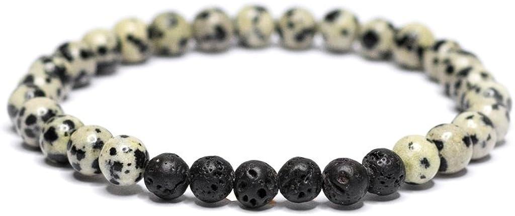 Vitality Extracts - Purpose 6mm Diffuser Bracelet - Dalmatian Jasper, Trust, Faith, Devotion, Meditation, Aromatherapy