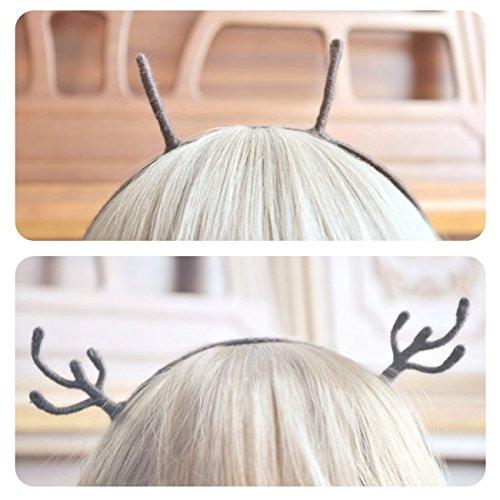 Reindeer Headband Craft - FORREST, Antlers & Bee Antennae Modeling Headbands, Well-crafted Reindeer Antlers Brown, Exquisite Bee Antennae Brown, Handmade Crafts, Excellent Wear Effect.