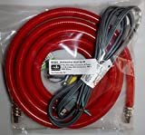 Dishwasher Installation Kit w/8' Red Braided Poly Water Line and Power