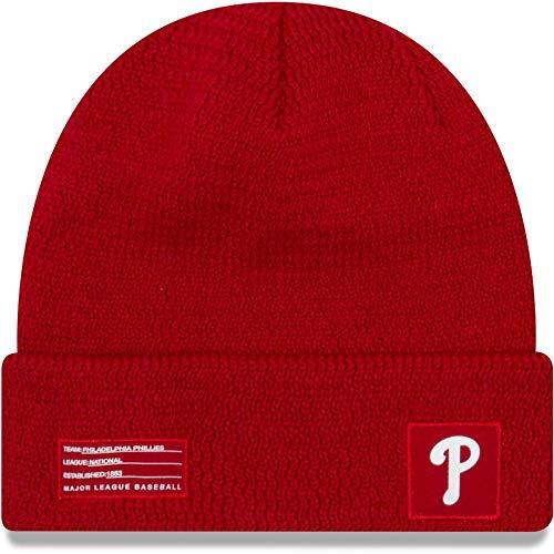 New Era Philadelphia Phillies Beanie MLB 2018-19 On Field Sport Knit Cap Red Adult One ()
