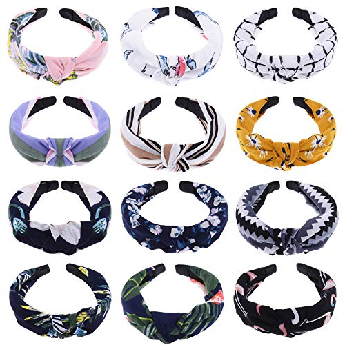 (SIQUK 12 Pieces Headband with Twist Knot for Girls )