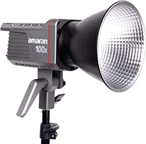 Amaran 100x Bi-Color LED Video Light, 130W 2700-6500k 34300lux@1m Bluetooth App Control 9 Built-in Lighting Effects DC/AC Power Supply, Made by Aputure