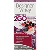 Designer Protein Protein 2Go Drink Mix, Mixed Berry, 0.56 Ounce (5-Packets)