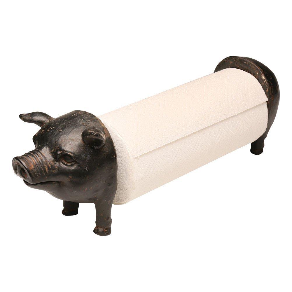 Pig Shaped Counter Top Paper Towel Holder Counter Top Farmhouse Paper Towel Dispenser Pig Paper Towel Dispenser Black