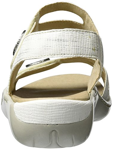 Remonte Women's R8570 Wedge Heels Sandals White (Ice-multi/81) 9AC4adYb
