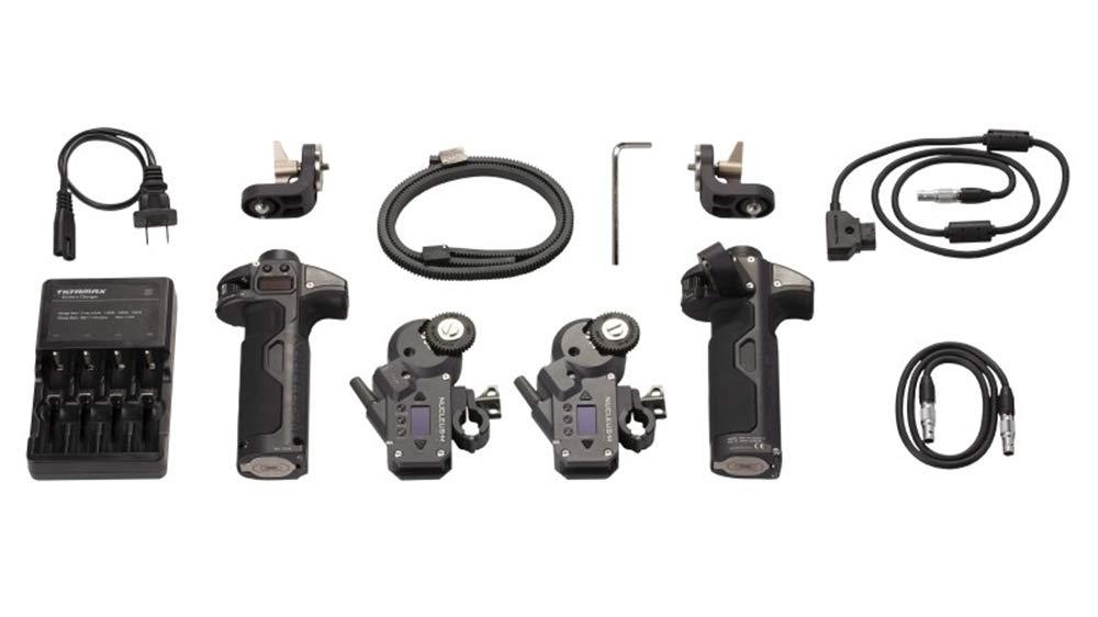 TILTA WLC-T03-K5 Nucleus-M Wireless Follow Focus Lens Control System Partial Kit V Left Handgrip WLC-T03-HL and Right handgrip WLC-T03-HR with Motor Nucleus-M Motor WLC-T03-M by Tilta