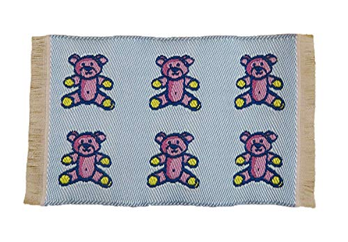 Melody Jane Dollhouse Blue Teddy Bear Rug Mat Miniature Nursery Play Room Accessory 1:12 from Melody Jane