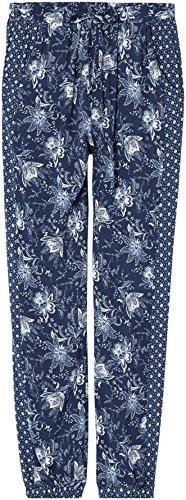 FIND Pantalón con Estampado de Flores para Mujer Azul (Blue)
