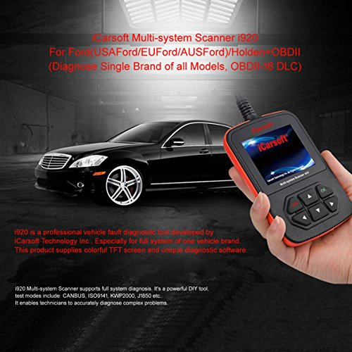- iCarsoft i920 Ford Holden Vehicle Diagnostic Tool, Obdii Code Reader Multi-Systems
