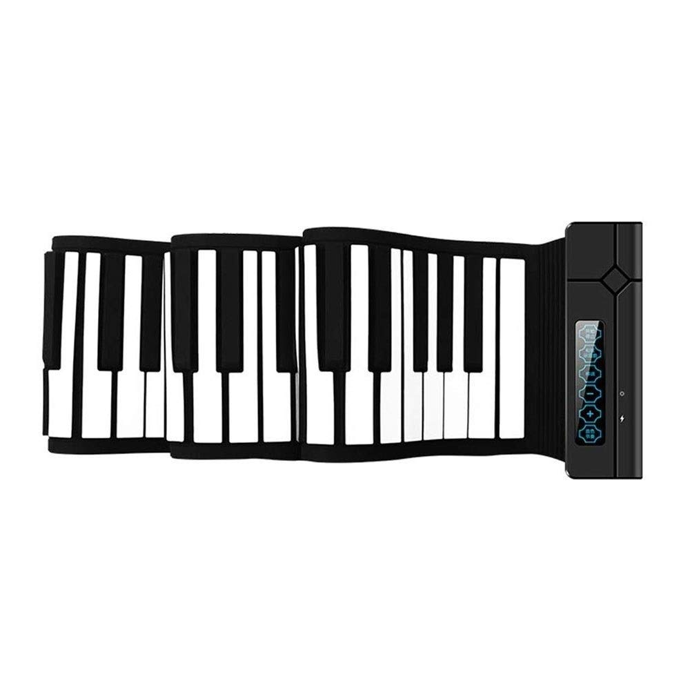 HIIMODER33 Can Be Carried Foldable 88 Keys Keyboard Hand-Rolling Piano,Instrument Hand Roll Piano Environmental Silicone Keyboard by HIIMODER33