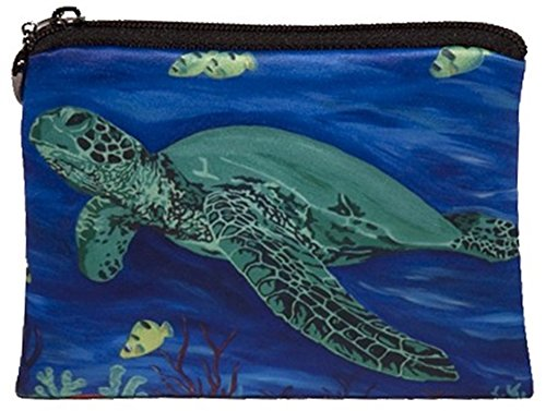 Sea Turtle Change Purse, Coin Purse - From My Original Painting, - Turtle Purses