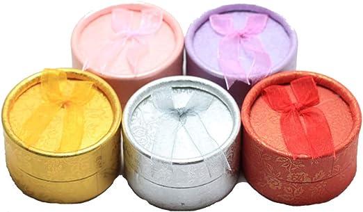 Caja de regalo para pendientes, de cartón, 5 unidades, color al azar, práctico y útil: Amazon.es: Amazon.es