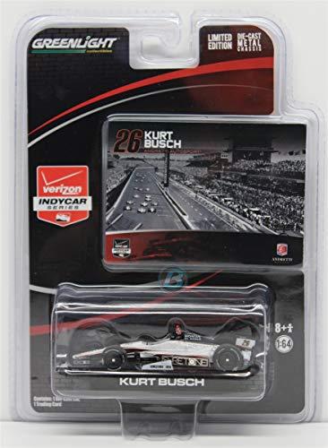 Kurt Busch Car - 2014 Kurt Busch Indy 500 #26 Andretti Motorsports Suretone Honda 1/64 Diecast Greenlight Light Collectable Diecast with Trading Card